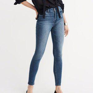 A&F High Rise Super Skinny Jeans - size 26S